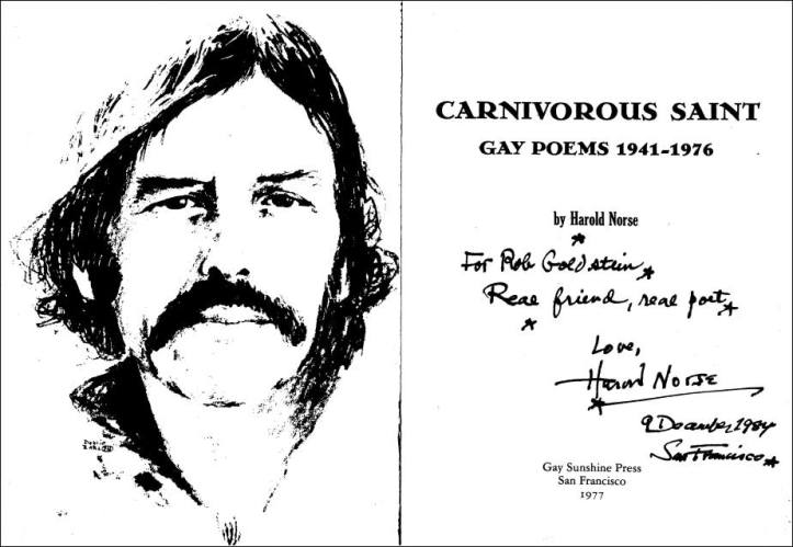 Scan of the Harold Norses Signature in my copy of Carnivous Saint