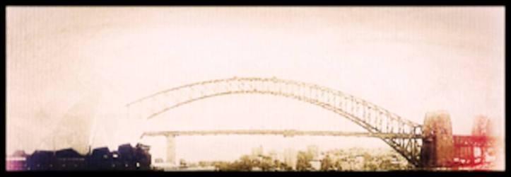 Digital painting of a bridgr in muted tones by Melinda Sandor