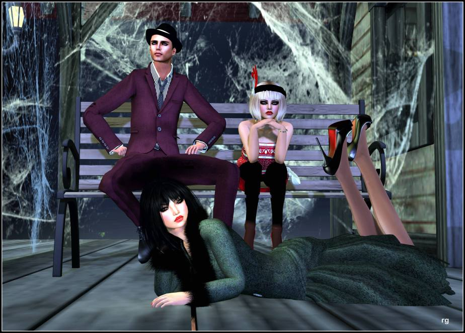 Valentino, Lulu and Rose wait for a train in Hullaba Lulu, a Jazz Wednesday story by Teagan Geneviene on Teagan's Books.
