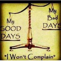 bad days and good days