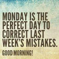 Monday corrects past week