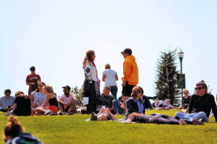 Photograph of people enjoying a Summers Day