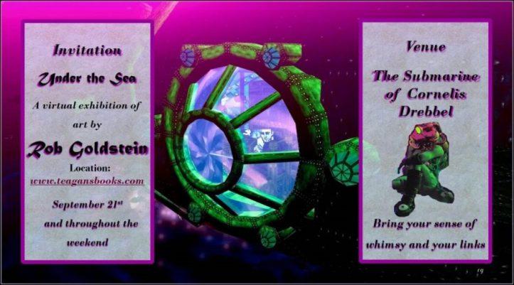 Invitation to a virtual art show on Teagan's Books