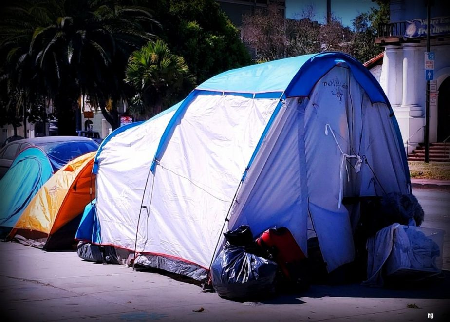 Tents on Dolores Street, Sept 2020